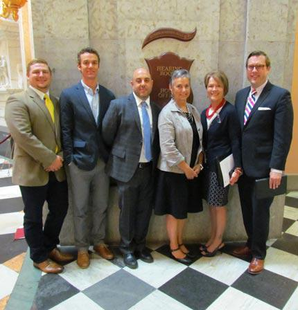 OAPCS staff in the halls of the Ohio State House